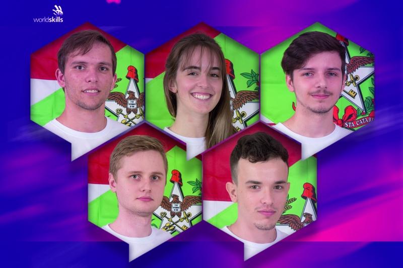 Cinco alunos de SC garantem vaga no mundial de profissões