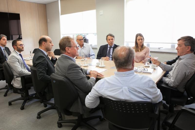 Secretário Paulo Eli recebeu diretores e técnicos da Federação e agendou encontro com setor têxtil para o dia 20 (foto: Filipe Scotti)