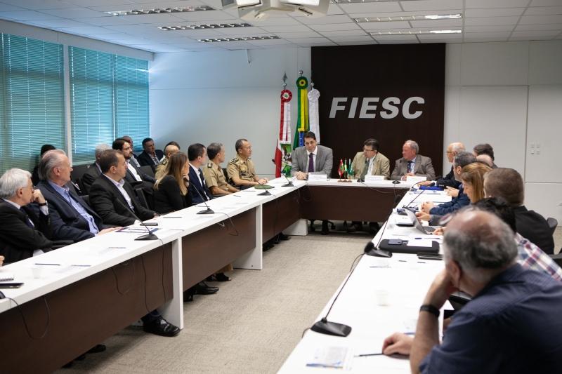Reunião foi realizada na FIESC, nesta quinta-feira (8), em Florianópolis (foto: Filipe Scotti)