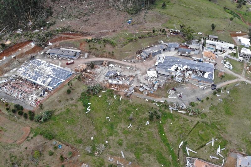Stolf Utilidades Dométiscas, de Rio do Sul, teve 70% do parque fabril atingido. Foto: Divulgação