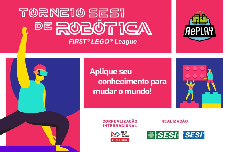Inscrições no Torneio SESI de Robótica FLL seguem até 12 de março